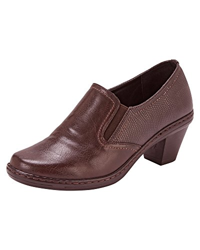 Cotton Traders Ladies Womens Cushion Support Trouser Shoes Memory Foam Heel Size 6 Brown