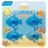 A2Z Home Solutions Perfect Wall Mounted Bathroom Suction Hooks 4pk Animal Shapes Holder Rack Wall Hangers