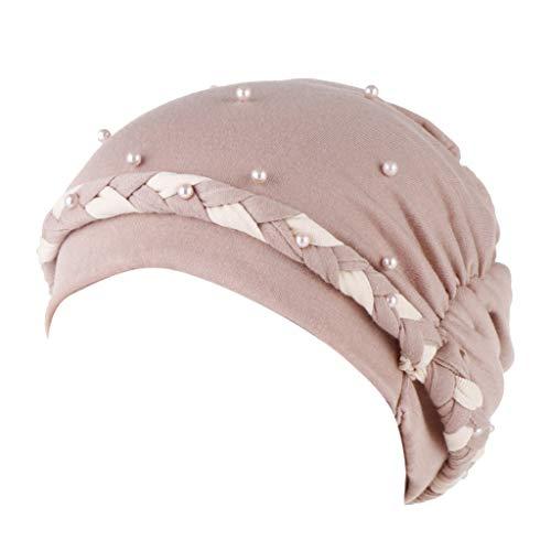 Laile Damen Mütze Haube Unifarbe Indien-Hut klassischer Festival Kopfbedeckung Elegantes Mützen Frauen Indien Turban Schöne Beiläufig Turban Kopf Wickeln Elastic Einfaches für Tanzparty