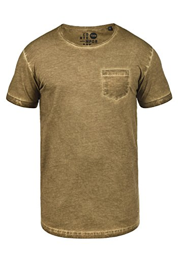 !Solid Terick Herren Longliner Oversize Shirt T-Shirt Kurzarm mit Rundhals-Ausschnitt Aus 100% Baumwolle Ermine (5944)