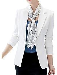 b76169367ff4 Femme Élégant Blazer à Manches Longues OL Bureau Affaires Veste De Costume  Manteau Slim Fit Cardigan