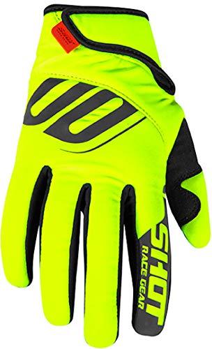 Neon-trainer (Shot Erwachsene Trainer Handschuhe (Neon Gelb, Größe 10))