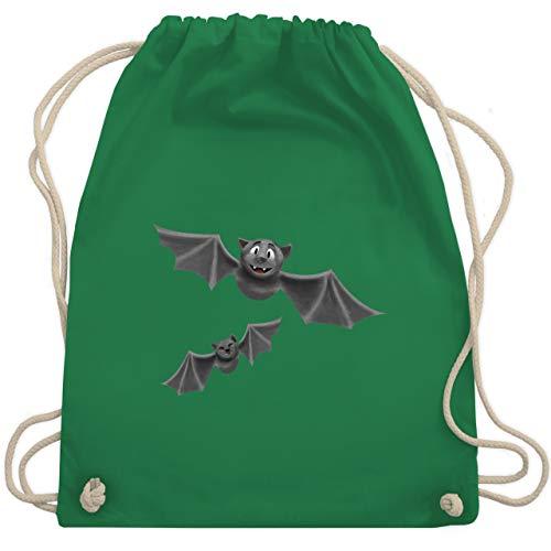 Halloween - süße Fledermäuse - Unisize - Grün - WM110 - Turnbeutel & Gym Bag