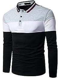 Boom Fashion poloshirt Herren Langarm-Polohemd Elegante Stil Männer Freizeit T-shirt