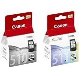 Canon PG510 PG-510 Cartouche d'encre noire et CL511 CL-511 pour imprimantes Pixma MP495