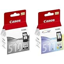 Canon PG510(PG-510) negro y CL511(CL-511) cartucho de tinta a color para Pixma iP2702impresoras