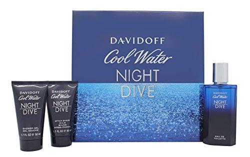 Davidoff cool water night dive confezione regalo 75ml edt + 50ml gel doccia + 50ml balsamo dopobarba