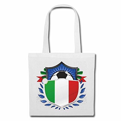 sac à bandoulière ITALIE ITALIE SOCCER FOOTBALL Allemagne 2018 Coupe du Monde ALLEMAGNE CHAMPION DU MONDE RUSSIE RUSSIE demi-finale QUARTS DE FINALE Sac Turnbeutel scolaire en blanc