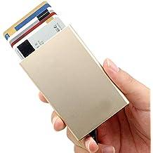 Tarjetero para Tarjeta de Crédito RFID Bloqueo,Tarjetero de Crédito,Delgado Cartera de Aluminio