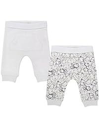 The Essential One - Bebé Paquete de 2 Pantalones/Leggings - Blanco - TESS7