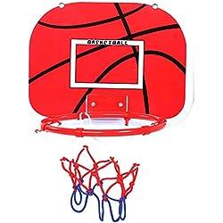 Alomejor Mini Juego de Juguete de Baloncesto para niños Juego de aro y Pelota de Baloncesto con suspensión Ajustable para niños pequeños Niños pequeños(Plastic Hook+Adhesive Hook)