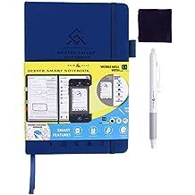 Cuir Ally 2019 Life Planning, Improving Dexter Smart Erasable Reusable Notebook Journal for To-Do List, Goals, Time Management, 4X Productivity Improvement (Blue)