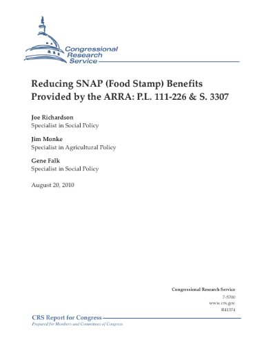 Reducing SNAP (Food Stamp) Benefits Provided by the ARRA: P.L. 111-226 & S. 3307 (English Edition) Hunger Snap