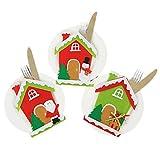 Zoylink 3 Pezzi Sacchetto Di Posate Per Posate Decorativo Posate Da Tavola Di Natale