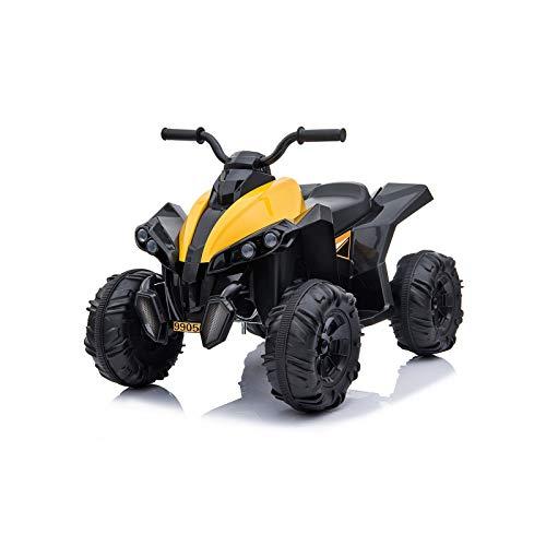 Toyas Kinder Elektrofahrzeug Elektro Motorrad Auto ATV Pocketquad Quad Miniquad Gelb
