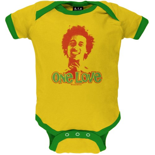 Old Glory – Bob Marley – baby-boys One Love Infant Body, Gelb, BM5335 IL (Marley-baby-kleidung Bob)