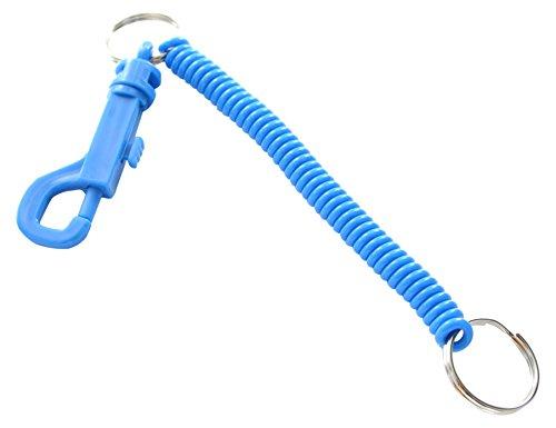Bulk Hardware bh04891Spirale Schlüsselanhänger blau Kunststoff, Set von 2Stück