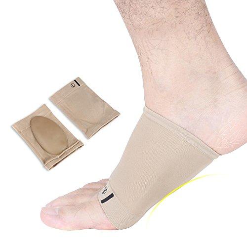Gel Fußgewölbe Unterstützung, weiche Silikon Gel Korrekturbogenpolster, Fußpolster mit Einlegesohlenhülse zur Schmerzlinderung beim Fersenschutz -