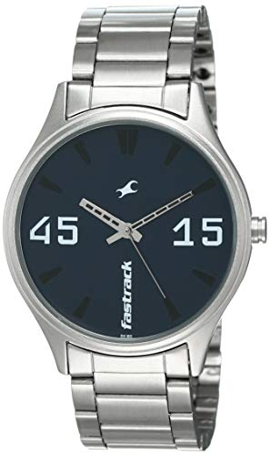 Fastrack Analog Silver Dial Men's Watch-3229SM02