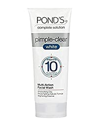 PONDs Pimple Clear White Multi Action Facewash, 50gm