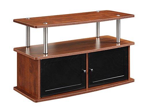 Convenience Concepts Designs2Go TV-Ständer mit 2 Schränken für Flachbildfernseher bis 91,4 cm (91 Zoll) Traditionell 38 Cherry - Leder Traditionellen Bett