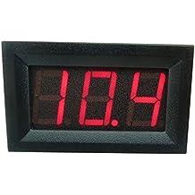 """Aihasd DC 3,2V a 30V 0,56"""" Voltímetro digital Medidor de panel de voltaje Para 6V 12V Coche de la motocicleta de Electromobile"""