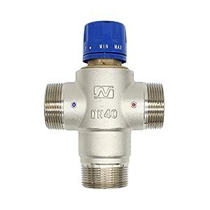 Mezclador termostatico 3 vias 1/2 3/4 1 1-1/4 1-1/2 pulgada para ducha banera lavabo cocina bidet (1-1/2 pulgada (DN40))