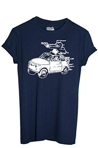 T-SHIRT LUPIN FIAT 500-CARTOON Dress Your Style - Uomo-L-BLU NAVY
