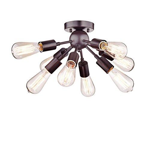 Vintage Antiken Metall ORB Sputnik Kronleuchter 8 Lichter Halb bündig Berg Anhänger Deckenleuchte Lampe Leuchte mit 8 Lampenfassungen - Acht Licht-anhänger Kronleuchter