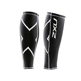 2x U Core, Compression Calf Guards Unisex Erwachsene XL schwarz/schwarz