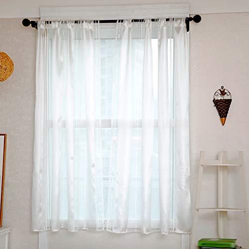 Gaze Voile Vorhänge, 1 Panel Fenster Behandlung Vorhang Anti-Moskito Leichte Streifen Gardinen Home Küche Fenster Tür Dekoration