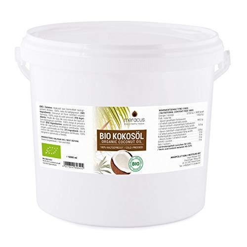 meracus Bio Kokosöl, nativ im Eimer, 1er Pack (1 x 5 l) -