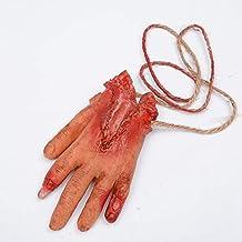 SODIAL Barretta tagliato pedale mano Sangue Horror decorazione di Halloween Severed sanguinosa Limbs mano della novita' Morto rotti Gadget a mano a mano Sangue