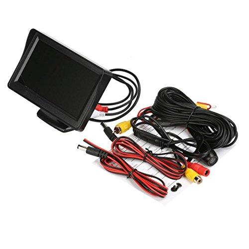 Koly 4.3 '' LCD Vista posterior del coche del monitor de la visión nocturna de la cámara del revés impermeable de