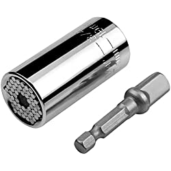 Steckschlüsselsatz Steckhülse Bohrmaschine Ratschenbuchse Schlüssel Magische Multi-Handwerkzeuge 7-19mm