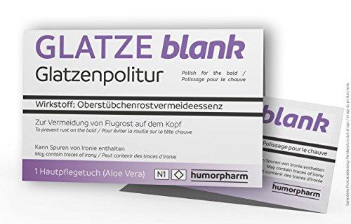 GLATZE blank - Glatzenpolitur - Scherzartikel