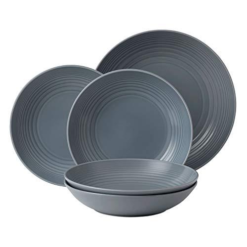 Royal Doulton Gordon Ramsay Maze Pasta Set 5TLG, grau - Gordon Ramsay Pasta