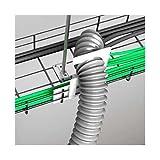 Schneider ISM20813 Halterung an Kabelrinnen für Kabelschauch 55mm, Weiß