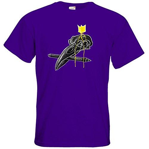getshirts - Raven-Art - T-Shirt - King Crow Purple