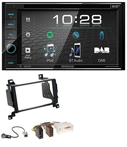 caraudio24 Kenwood DDX4019DAB USB DVD DAB MP3 Bluetooth 2DIN Autoradio für Hyundai Santa Fe (2007-2012)