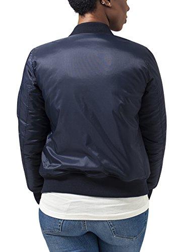 Urban Classics Damen Jacke Ladies Basic Bomber Jacket Blau (navy 155)