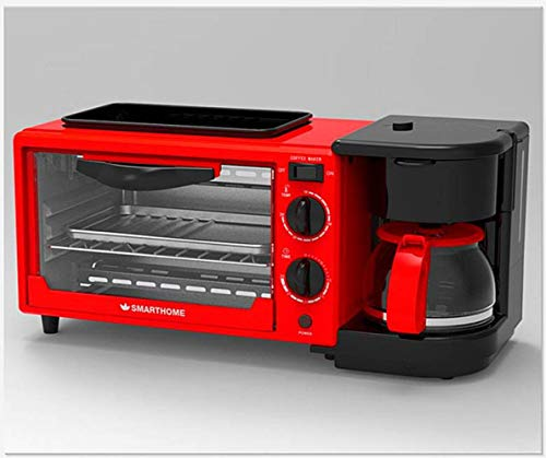 MOMO Horno de la máquina del Desayuno 10L, Multifuncional Tres-en-uno, tostadora de...
