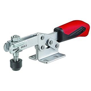 Waagrechtspanner mit rotem Griff 6830 Gr. 1 Nr. 93013; mit offenem Haltearm und waagrechtem Fuß