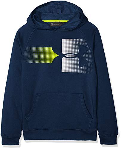 Under Armour Jungen Rival Logo Hoody Oberteil, Blau, YLG (Armour Kind Under)
