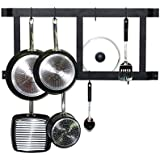Geo Fashion Indiansterline Ultimate Wall Mounted Pot Rack Vertical/Horizontal In Irion