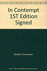 In Contempt 1ST Edition Signed