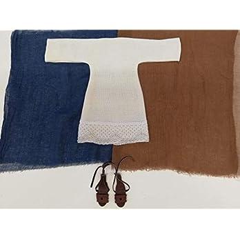 Helles Frauenkleid mit Spitze und zwei Tüchern – Erzählfiguren Frau 28 cm – Kunsthandwerk Kolb