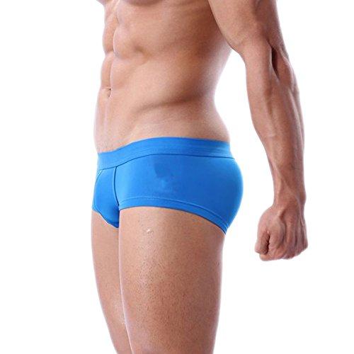 Sexy Unterwäsche Badehose Hose Boxershorts für Männer Blau