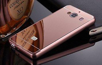 SDO™ Metal Bumper Frame Case with Acrylic Mirror Back Cover Case for Xiaomi Redmi 2/Redmi 2 Prime - Rose Gold