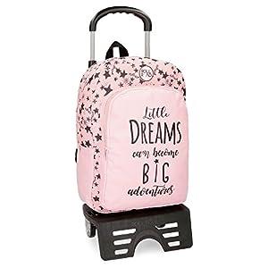 Roll Road Dreams Pink Mochila 42 + carro, 42 cm, Rosa